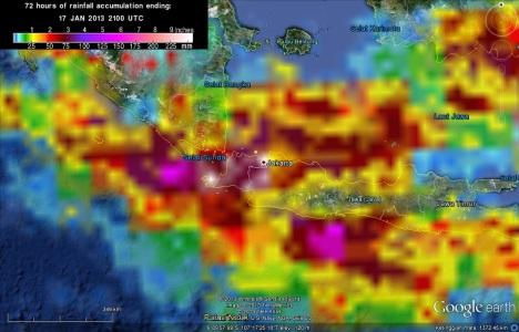 Curah hujan sekitar jakarta 16Jan 0400-18Jan 0400-2