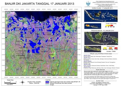 Peta banjir Jakarta 17-01-2013- LAPAN