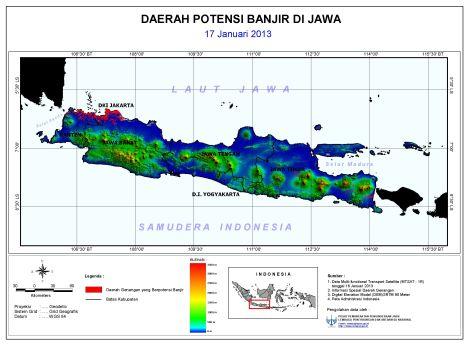 Potensi banjir 17 Jan