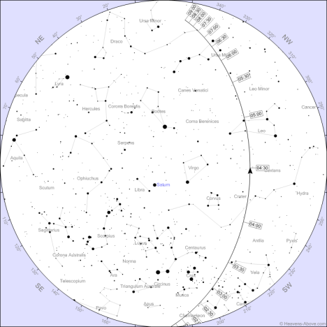 2012 DA14-Peta Langit Biak