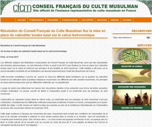 Resolusi Dewan Islam Perancis