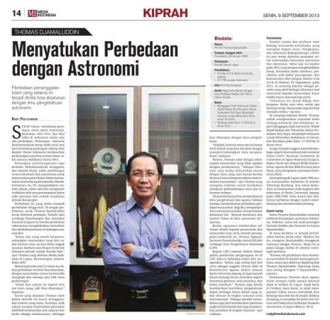 Kiprah - Media Indonesia 6 Sep 2013