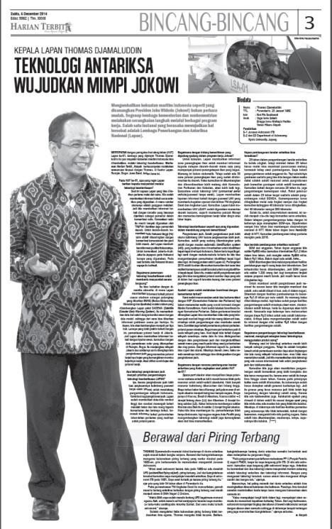 Teknologi Antariksa wujudkan mimpi Jokowi