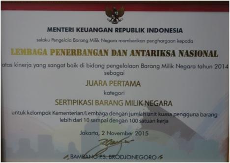 Penghargaan BMN-LAPAN