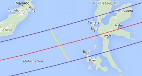 Jalur GMT sekitar jalur pantau LAPAN-A2