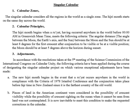 Kongres Kalender Islam Turki 2016-Singular Calendar