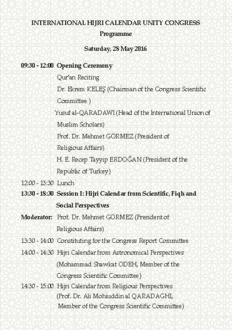 Kongres Kalender Islam Turki 2016a