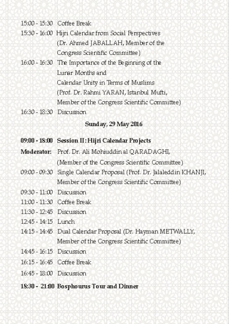 Kongres Kalender Islam Turki 2016b